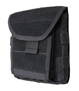 Administration panel with map pouch - black