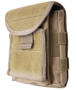 Administration panel with map pouch - sand