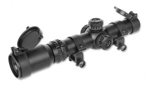 Aim-O 1-4x24SE Red & Gren Dot Tactical Scope - Black