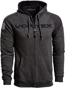 Vortex Grey Zip Up Hoodie - M