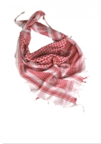 WHITERED SHEMAGH SCARF